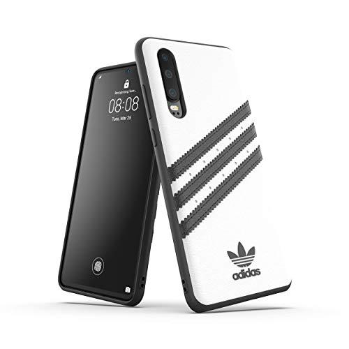 adidas Originals - Carcasa para Huawei P30, Color Blanco y Negro