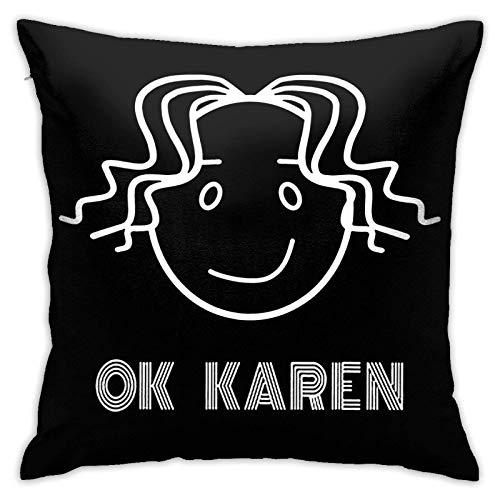 suichang OK Karen Square Baumwoll Leinen Kissenbezug mit Reißverschluss Dekorative Akzent Kissenbezug für Auto Schlafzimmer und Sofa 18x18 Zoll Kissen