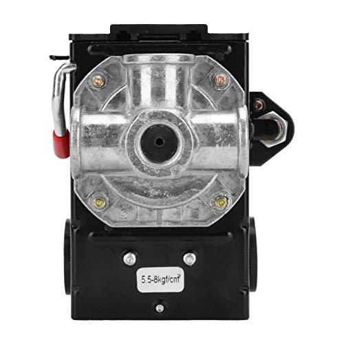 Interruptor de presión automático de 4 orificios, controlador de válvula de control del interruptor de presión del compresor de aire Instrumento de válvula reguladora ajustable para compresor de aire