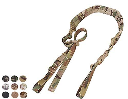 Tactical 2 Point Rifle Gun Sling Quick Adjustable Padded Shoulder Strap (Multicam)