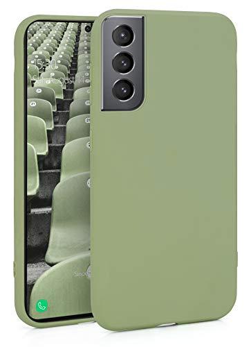 MyGadget Silikon Hülle für Samsung Galaxy S21 - robuste Schutzhülle TPU Hülle Slim - Dünne Silikonhülle Back Cover - Ultra Kratzfest Handyhülle - Matt Grün