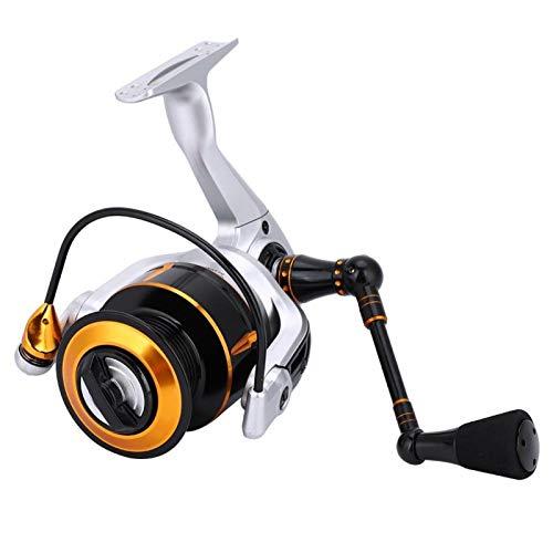 DAUERHAFT Carrete de Pesca de Metal Carrete de Agua Salada de procesamiento Fino 13 + 1 Diseño de rodamiento de Bolas Metal + EVA con un Interruptor de Palanca(KR2000)