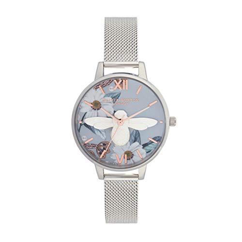 Olivia Burton Damen Analog Quarz Uhr mit Edelstahl Armband OB16BF18