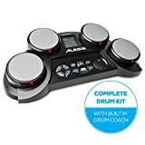 Alesis CompactKit 4 Portable Electronic Drum Kit with Coach Feature and Game Function