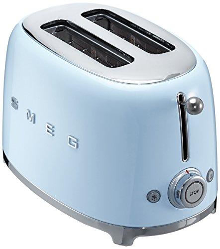 Smeg TSF01PBEU Grille-Pain, 950 W, Bleu