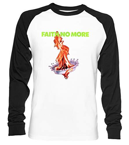Chains Bad Faith Unisex Baseball T-Shirt Langarm Herren Damen Weiß Schwarz