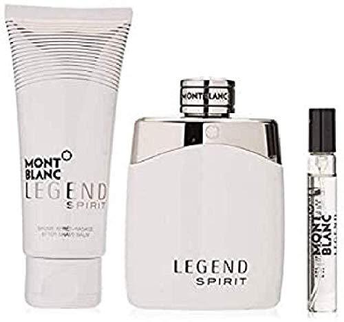Conjunto Legend Spirit Trio Montblanc Masculino - Eau de Toilette 100ml + Pós-Barba 100ml + Travel Size 7,5ml