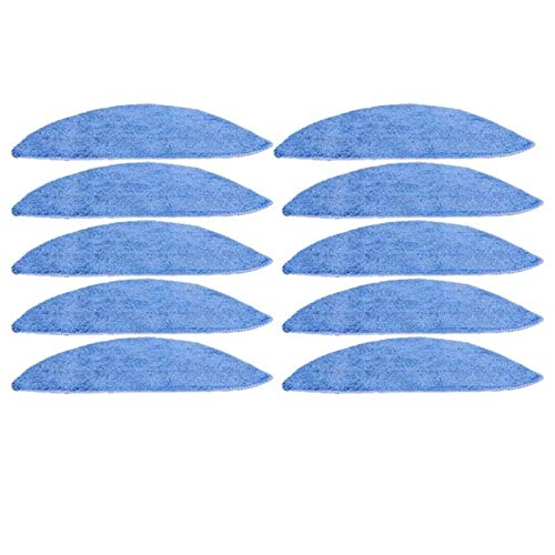 ADUCI Cepillo Lateral Hepa Filtro primario Filtro de Polvo fregona Tela for Chuwi Ilife V5 V5s V3 V5 V3s Pro V50 V55 Limpiador de Partes X5 Robot Aspiradora (tamaño : 10 pcs Pad)