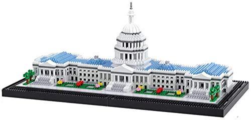 spinning Los niños partículas elementales, el Mundo de la Casa Blanca Famoso Punto de Referencia 3100 + PC Nano Mini-Kits de construcción de Bricolaje Juguetes educativos Bloques Regalos de l.