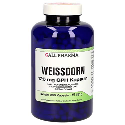 Gall Pharma Weißdorn 120 mg GPH Kapseln , 1er Pack (1 x 360 Stück)