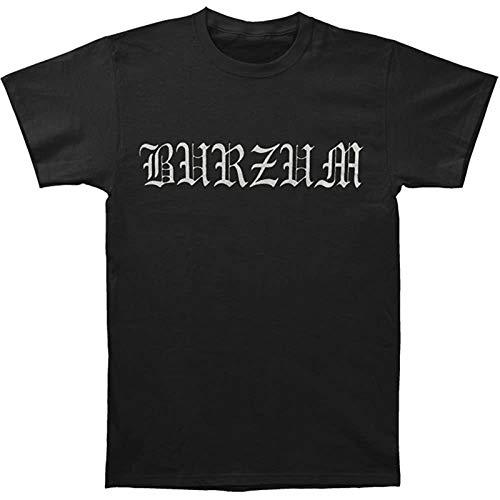 XIANGRIKUI Burzum T-Shirt Graphic Printed Top Tee for Men Black XXL