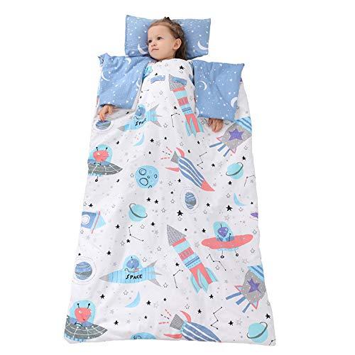 MCLJR Kids Sleeping Bag,Toddler Nap Mat,Removable Liner Children'S Sleeping Bag,Ergonomic Sleeve Design for Comfort,Suitable for Day Care, Indoor Use,78 * 120cm