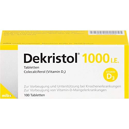 Dekristol 1000 I.E. Tabletten bei Vitamin-D-Mangelerkrankungen und zur unterstützenden Behandlung der Osteoporose, 100 St. Tabletten
