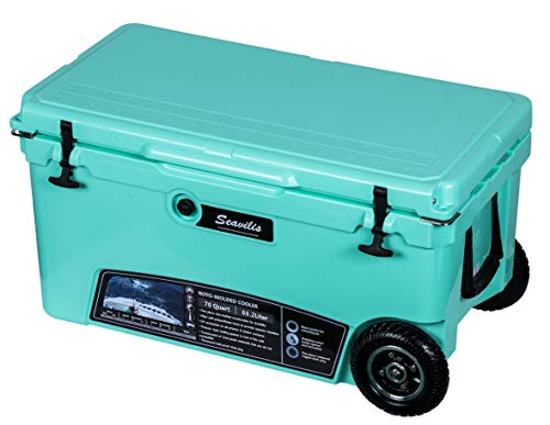 Milee-Heavy Duty Wheeled Cooler 70QT (Sea...