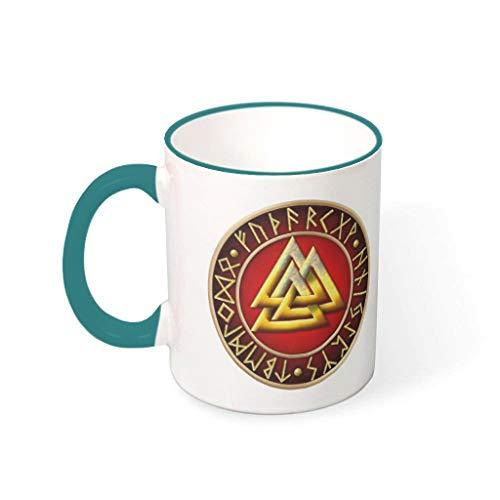 Taza de café de cerámica lisa divertida – Mujer presente presente 330 ml