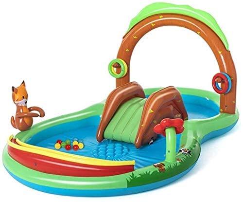 Piscina Infantil, jardín Infantil con Juguetes y Diapositivas, Piscina Inflable for niños Mayores de 3 años, Agua al Aire Libre Centro de Juego con Juegos Fuente DDLS