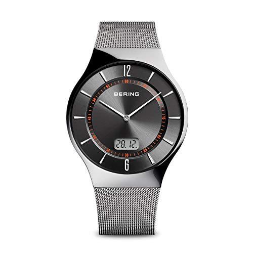 Bering Herren Analog Quarz Uhr mit Edelstahl Armband 51640-077