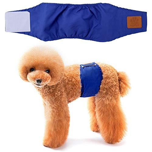 Hffheer Dog Luiers Wasbaar & Herbruikbaar Hond Anti-intimidatie Luiers Doggie Buikbanden voor Huisdier Incontinentie en Lange Reizen