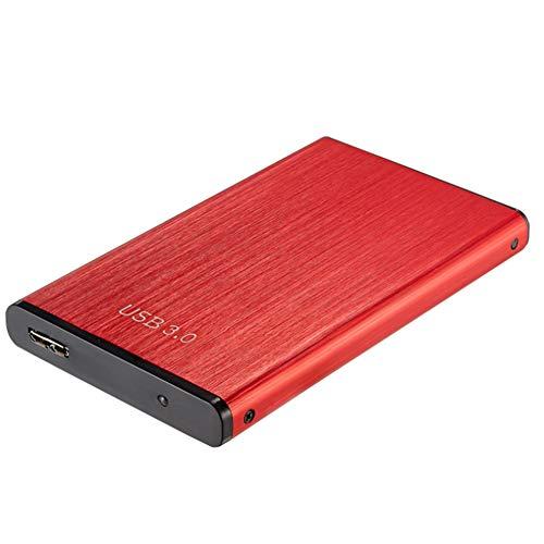 Disco Duro Externo Con 2 TB De Memoria Y 5 Gbps De Transmisión De Alta Velocidad De Disco Duro Portátil Móvil Indicador LED De Disco USB 3.0 Interfaz De La Transmisión De La Oficina De,Rojo,2TB