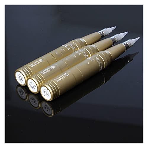 Kit de la máquina del bolígrafo del tatuaje Batería de recarga Máquina de maquillaje permanente Máquina de tatuaje de cejas eléctricas sin cable Utilizado por los artistas de tatuajes ( Color : Gold )