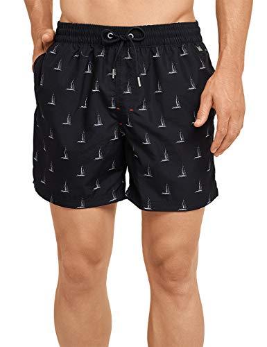 Schiesser Herren Aqua Swimshorts Shorts, Schwarz (Schwarz 000), Large (Herstellergröße: 006)
