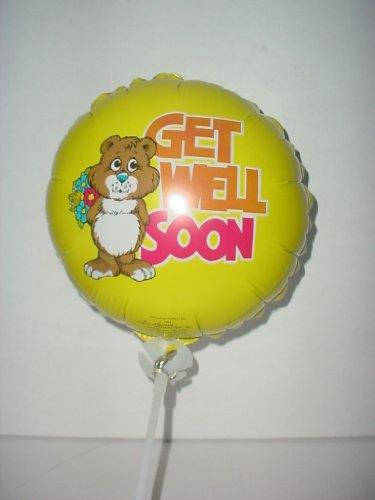 18 inch beterschap folie ballon met beer - geel (BL230)