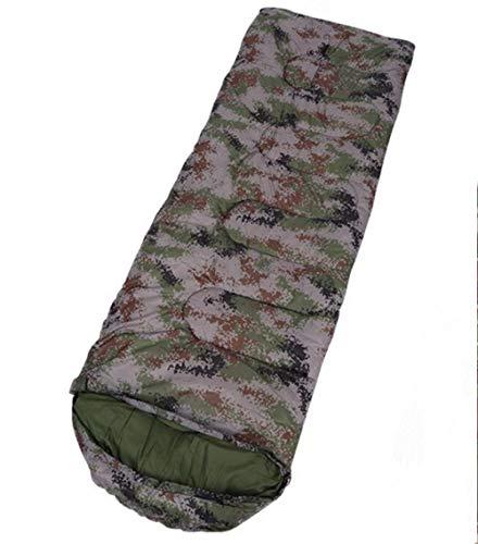 DADZSD Saco de Dormir de Camping para Adultos Camuflaje Militar Ligero Impermeable Bolsas perezosas con Bolsa de Transporte Senderismo al Aire Libre Mochilero-Digital Army Green