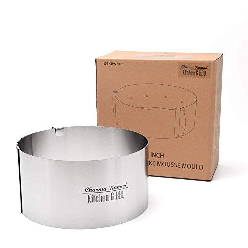 Charma Kaman Premium Verstellbarer Kuchenring/Kuchenrahmen Ø 16-33cm