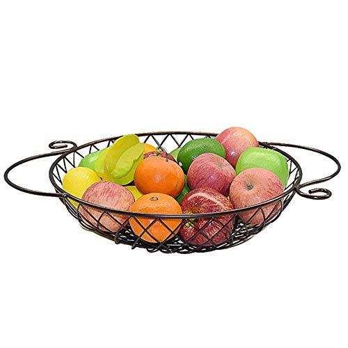 Légumes Panier de rangement, Fruit Basket Fruit Bowl Cuisine Salon Fruit Plaque Snack Plateau Décoration de table en métal stockage Affichage bol, Xping