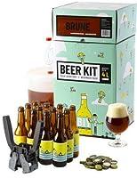 Brassez et embouteillez 4 Litres de bière brune à partir d'extrait de malt. Taux d'alcool estimé 7%. Le brassage à partir d'extrait de malt en poudre vous permet d'avoir 100% de chance de réussir votre bière et d'entrer dans le monde du brassage en t...
