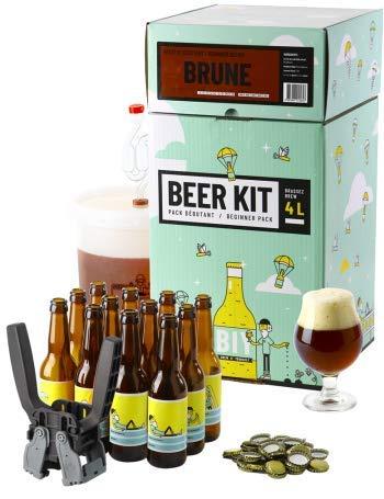 HOPT Bierbrauset zum Selber brauen | Dunkles Bier brauen | Geschenk für Männer | Bier selber BeerKit