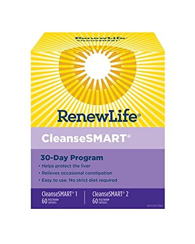 Renew Life Adult Cleanse - Cleanse Smart - 2-Part, 30-Day Program - Gluten & Soy Free - 120 Vegetarian Capsules