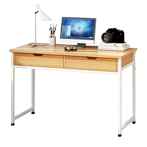 Tables FEI - Bureau d'ordinateur Pliante Grand Ordinateur Bureau avec Ordinateur Portable 2 tiroirs pour Le Bureau à Domicile pour Tous Les postes de Travail (Taille : 120 * 50 * 73.5cm)