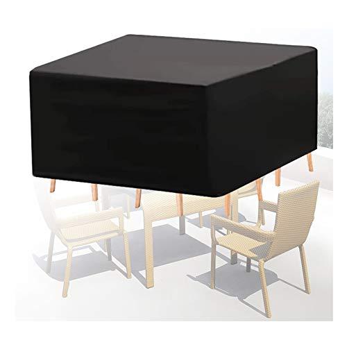 ASPZQ Cubierta Muebles Ratán, Funda Protectora Impermeable para Mesa Silla, Resistente Al Viento Al Polvo, Cubiertas de Veranda para Muebles Exterior, 30 Tamaños
