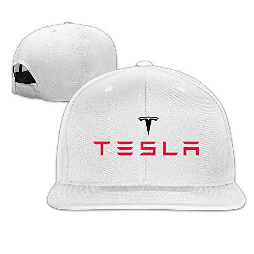 II Custom Tesla Logo Flat Along Baseball Cap Adjustable Hat Hüte, Mützen & Caps