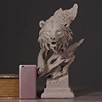 CXF- 工芸・クラフト 北欧アート彫刻クマの装飾品、創造的なシンプルでモダンな家の装飾の研究リビングルームのオフィスバー砂岩クマ動物の装飾品