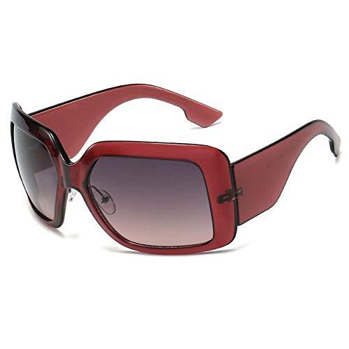 Sonnenbrille Neue Berühmte Marke Design Mode Übergroße Quadratische Sonnenbrille Frauen Vintage Gradient Big Sun Brille Für Weibliche Uv400 Lila