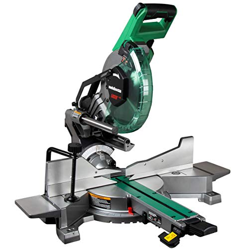 Metabo HPT C10FSHCT 10' Sliding Dual Bevel Compound Miter Saw with Laser Marker, Zero Rear Clearance Slide System, Powerful 15-Amp Motor, Front Bevel Lock, Includes 10' 40T TCT Miter Saw Blade