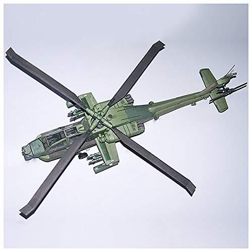 Lllunimon 1/33 USA AH-64A Apache Helicopter Aircraft Model Kit, DIY 3D Paper Avión Modelo de Edificio Kit de construcción Juguete Colección Militar