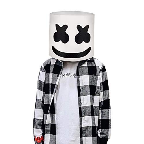 Marshmallowm DJ máscara Casco del Festival música Máscara la Mascarada...