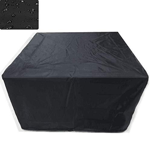 MJHETCY Rattanmöbel Abdeckungen Anti-Aging Sonnenschutz Gartenmöbel Schutzhülle Abdeckung Wasser- und staubdichte Polyester-Material, 12 Größen (Farbe: Schwarz) (Size : 270x180x89cm)