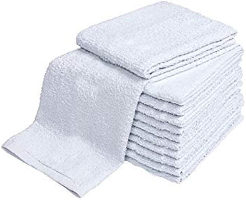 ELOMELO Mops Kitchen Towels 16 X 19 Commercial Grade 100 Cotton Kitchen Towels Terry Bar Mop Dish Towel Thick And Absorbent Solid White 10
