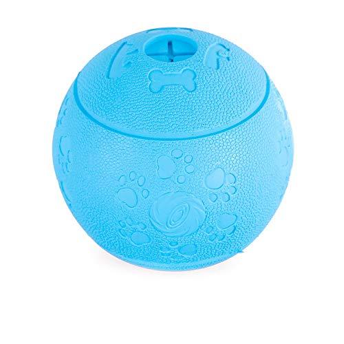 NA Dog Treat Ball - Dispensador de comida interactivo de goma para perseguir masticando jugando Breen