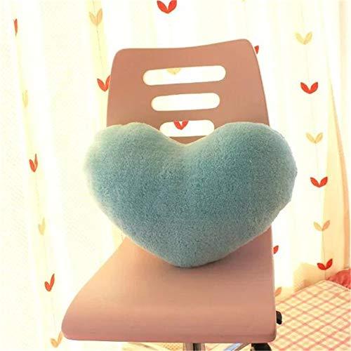 Amyseller Cojín de peluche con forma de corazón azul claro para niños, decoración de Navidad, para niños