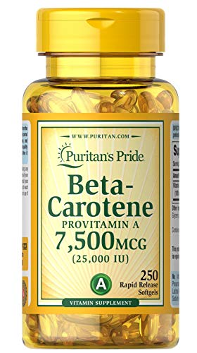 Puritan's Pride Beta-Carotene 25,000 IU-250 Softgels