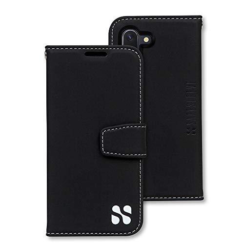 SafeSleeve EMF Protection Anti Radiation Samsung Galaxy Case: Galaxy Note 10 RFID EMF Blocking Wallet Cell Phone Case (Black)