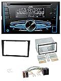 JVC KW-R520 MP3 USB CD 2DIN AUX Autoradio für Opel Corsa C Meriva Signum Vectra B 00-04 Charcoal
