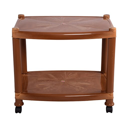 Cello Orchid Center Two Seat Trolley Table (Sandalwood Brown)