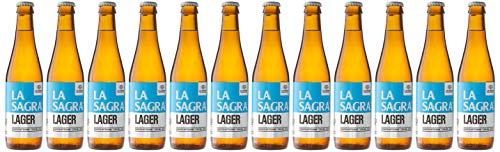 La Sagra Cerveza Artesanal estilo Lager - 12 botellas x 330 ml - Total: 3960 ml