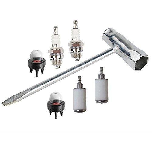 oxoxo Kit de limpieza llave sierra de cadena (Scrench) 13x 19mm con filtro de combustible imprimación bombilla para Stihl Husqvarna motosierra Motor